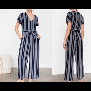 NWOT Rails Angela Blue Striped Jumpsuit